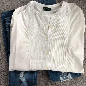 Ralph Lauren white top Size XL